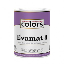 Colors Evamat 3 латексна фарба для стель з уповільненим часом висихання 0,9л