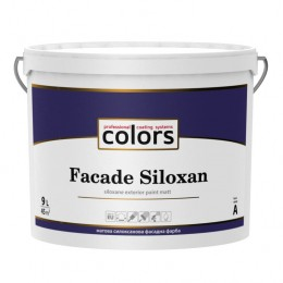 Colors Facade Siloxan – матовая cилоксановая фасадная краска 9L.