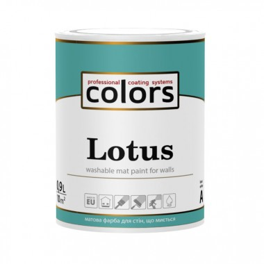 Сolors Lotus латексна фарба, стійка до стирання і змивання 0,9л