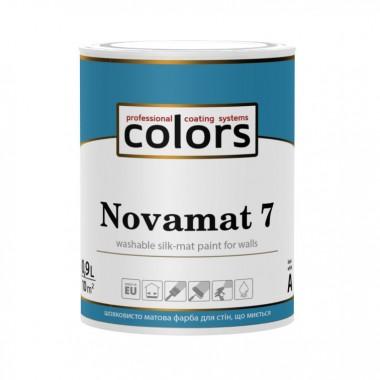 Сolors Novamat 7 латексна водорозчинна фарба для стін, що миється 0,9л