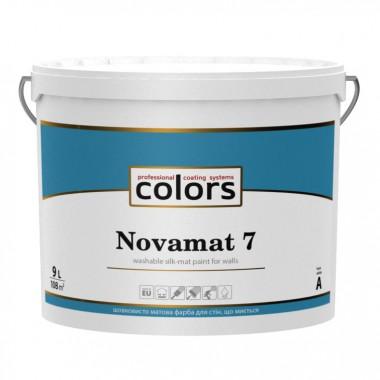 Сolors Novamat 7 латексна водорозчинна фарба для стін що миється 9л