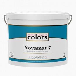 Сolors Novamat 7 латексная водоразбавляемая моющаяся краска для стен 2,7л