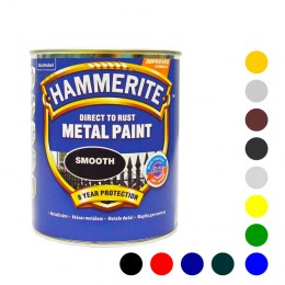 Hammerite фарба по металу антикорозійна гладка 0,75 л