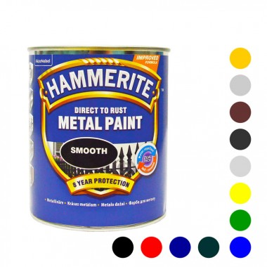 Hammerite фарба по металу антикорозійна гладка 2,5 л