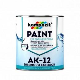 Kompozit АК-12 фарба для басейнів 2,8кг. Блакитна