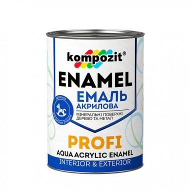 Емаль акрилова PROFI Kompozit 2,7 л. Біла, шовковисто-матова