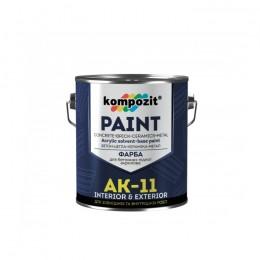 Kompozit AK-11 фарба для бетонних підлог, 2,8кг. Сіра