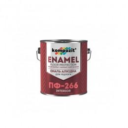 Алкідна емаль для підлоги ПФ-266 Kompozit 0,9 кг