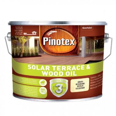 Pinotex SOLAR  TERRACE & WOOD OIL - Масло на водной основе с УФ-защитой для террас, мебели и фасадов 9,3 л.