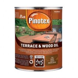 Pinotex TERRACE & WOOD OIL - Атмосферостійке деревозахисне масло, що тонується, 1л