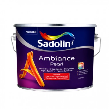 Sadolin Ambience Pearl напівматова фарба для стін з високою зносостійкістю 2,5 л