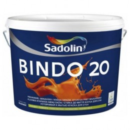 Sadolin BINDO 20 - Полуматовая краска для стен и потолка с высокой стойкостью к мытью 1л.