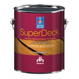 SW SuperDeck Exterior Oil-Based TRANSPARENT Stain CANYON BROWN  3,54 л