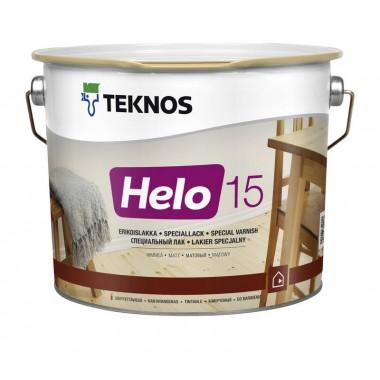Teknos Helo 15 матовий лак для дерева 2,7л