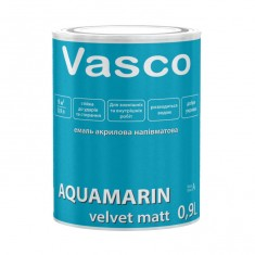 Vasco AQUAMARIN velvet matt акрилова емаль універсальна 0,9л