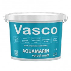Vasco AQUAMARIN velvet matt акрилова емаль універсальна 2,7л