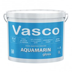 Vasco AQUAMARIN gloss акрилова емаль універсальна глянсова 9л