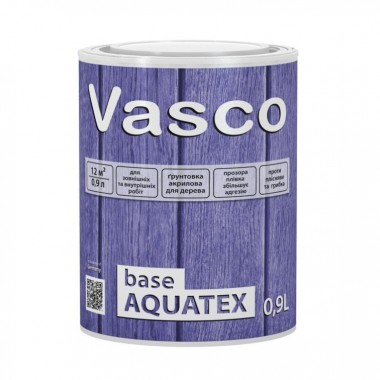 Vasco base AQUATEX акрилова грунтівка для деревини всередині і зовні 0,9 л