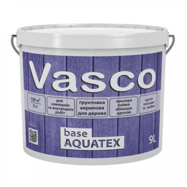 Vasco base AQUATEX акрилова ґрунтівка для деревини всередині і зовні 9 л