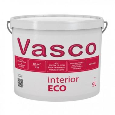 Vasco interior ECO водно-дисперсійна матова фарба для стін і стель всередині приміщень 9л.