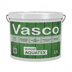 Vasco wood AQUATEX декоративний засіб для дерева 2,7л. Прозорий, білий, в кольорі.