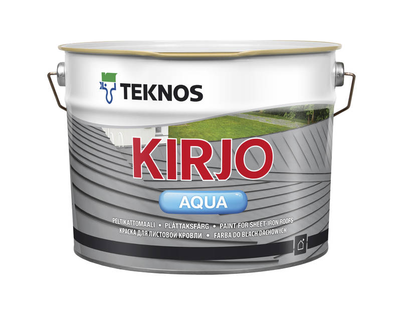 Акрилатна фарба Teknos Kirjo Aqua для листової покрівлі