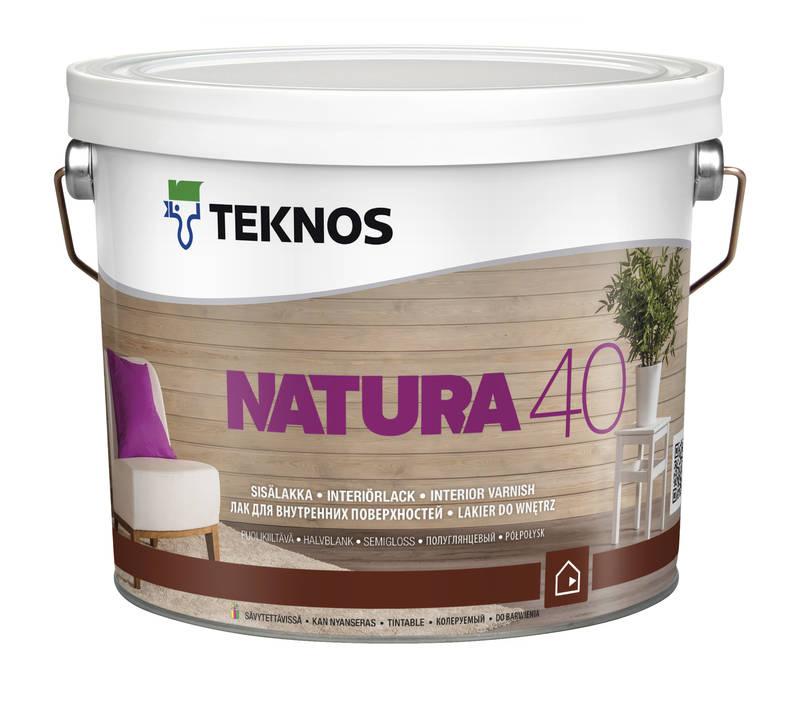 Лак для покриття дерева Teknos Natura 40