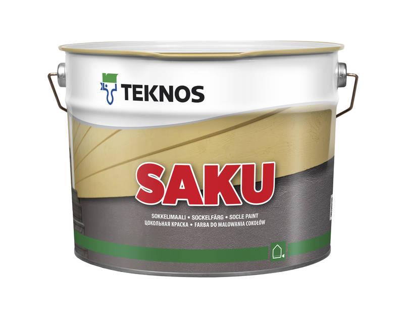 Teknos Saku, водно-дисперсійна фарба для зовнішніх робіт
