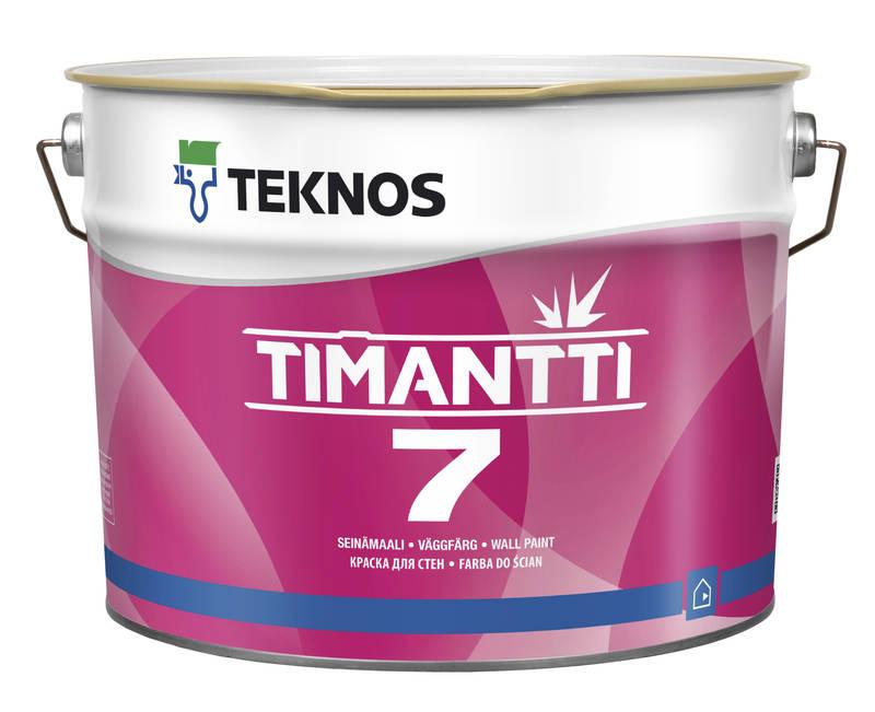 Teknos Timantti 7, акрилатна фарба для вологих приміщень